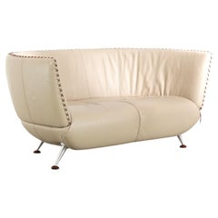 De Sede Ds 102 Two-Seater Sofa in Sand Upholstery by Mathias Hoffmann