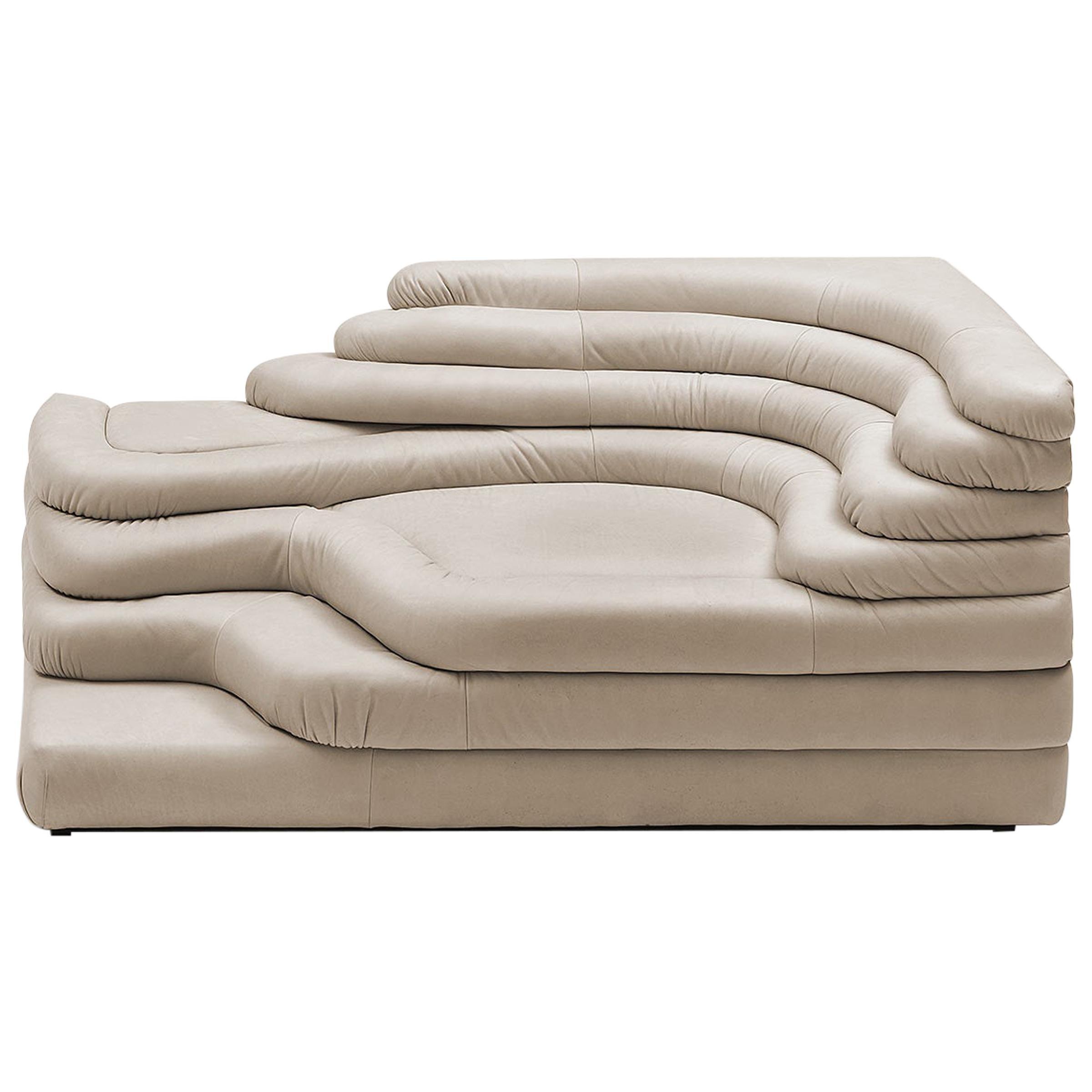 De Sede DS-1025/09 Terraza Sofa in Perla Upholstery by Ubald Klug, 1 Element