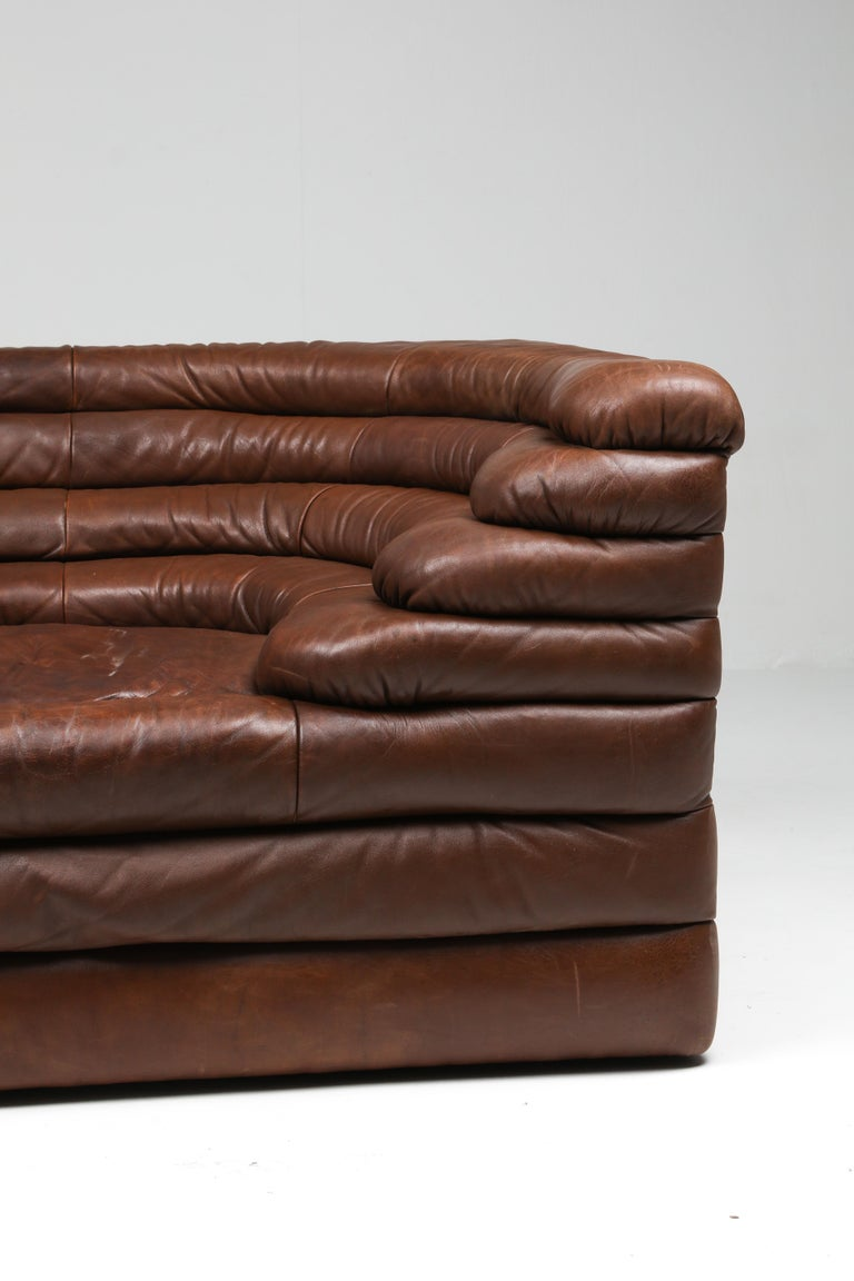 De Sede DS 1025 Terrazza Lounge Chair in Brown Leather For Sale 4