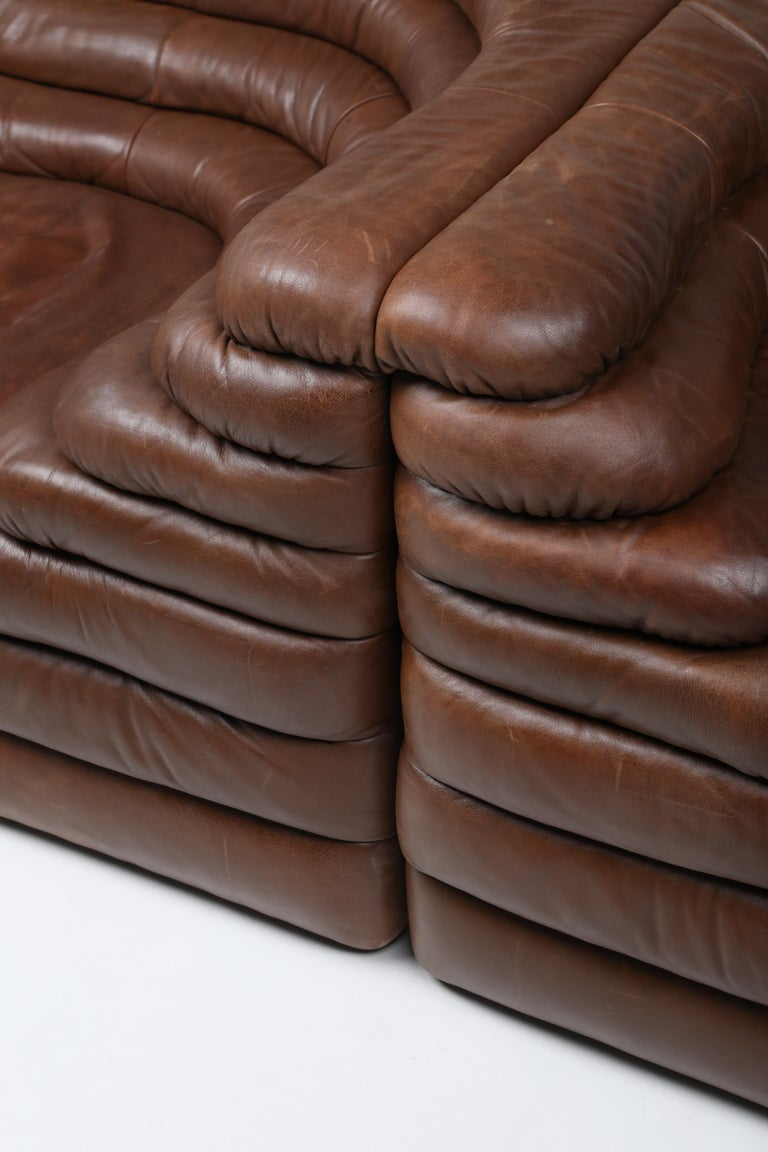 De Sede DS 1025 Terrazza Lounge Chair in Brown Leather For Sale 3