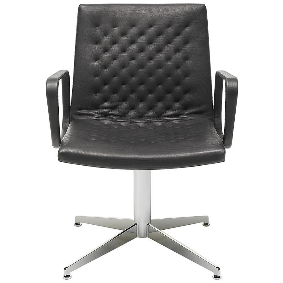 De Sede DS-1051/02 Armchair in Black Upholstery by De Sede Design Team