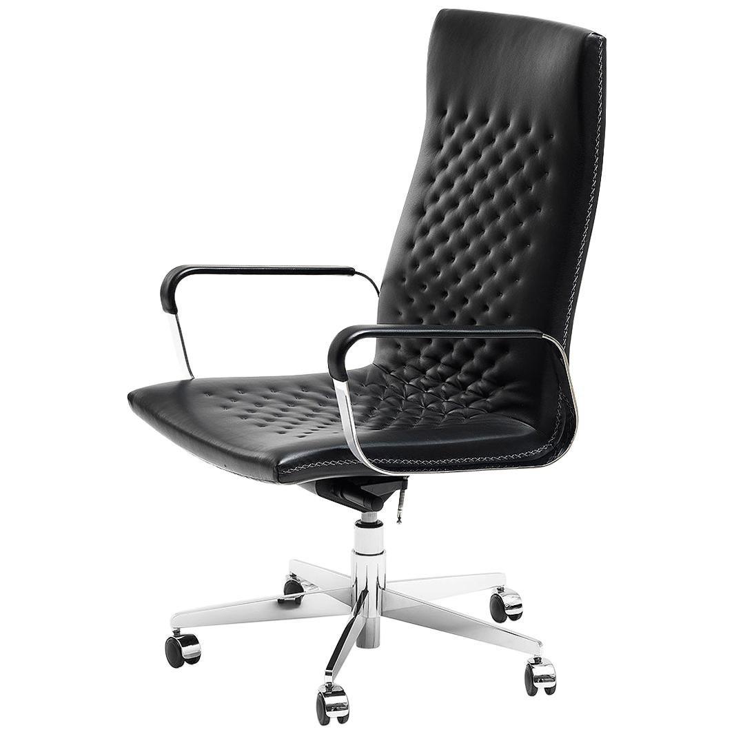 De Sede DS-1051/112 Armchair in Black Upholstery by De Sede Design Team