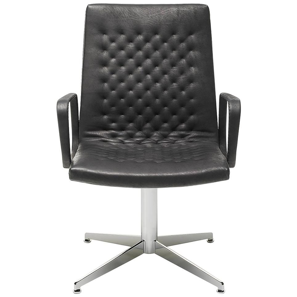 De Sede DS-1051/32 Armchair in Black Upholstery by De Sede Design Team