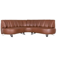 De Sede Ds 1064 Designer Leather Corner Sofa Brown Genuine Leather Sofa