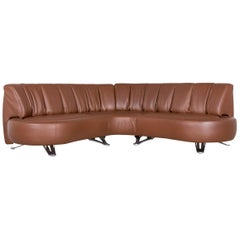 De Sede DS 1064 Designer Leather Sofa Brown Function Couch Made in  Switzerland