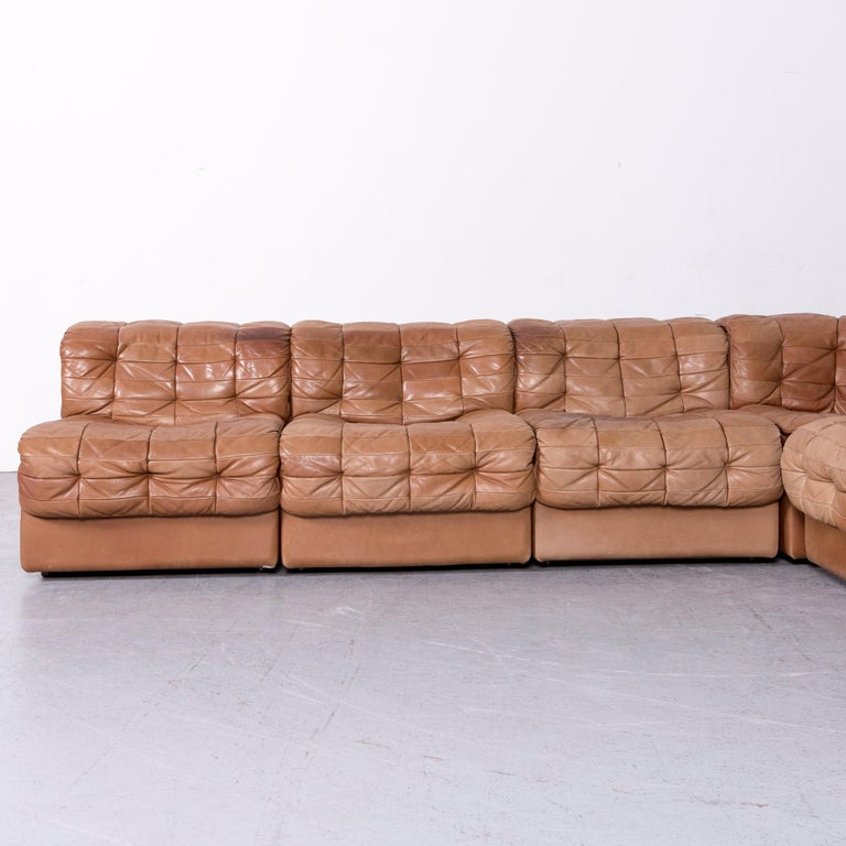 De Sede DS 11 Designer Leather Sofa Brown Genuine Leather Corner Sofa Couch