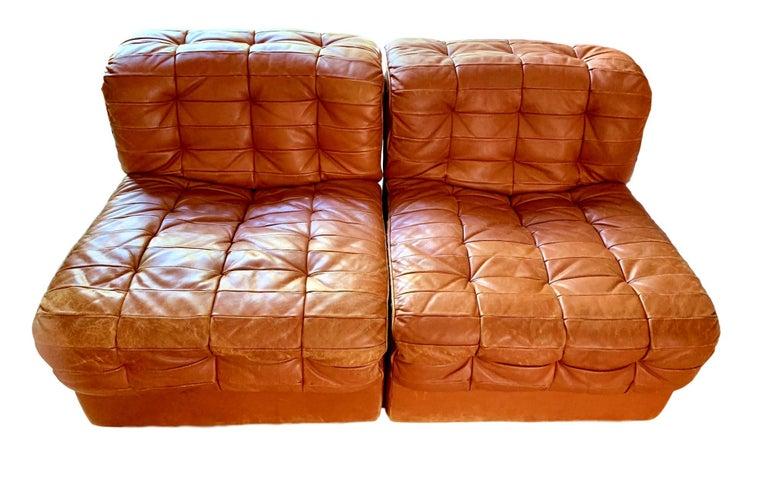 De Sede DS-11 Modular Six-Piece Leather Sofa For Sale 4