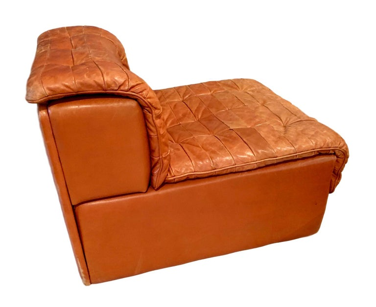 Patchwork De Sede DS-11 Modular Six-Piece Leather Sofa For Sale