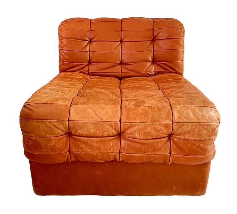 De Sede DS-11 Modular Six-Piece Leather Sofa For Sale 1