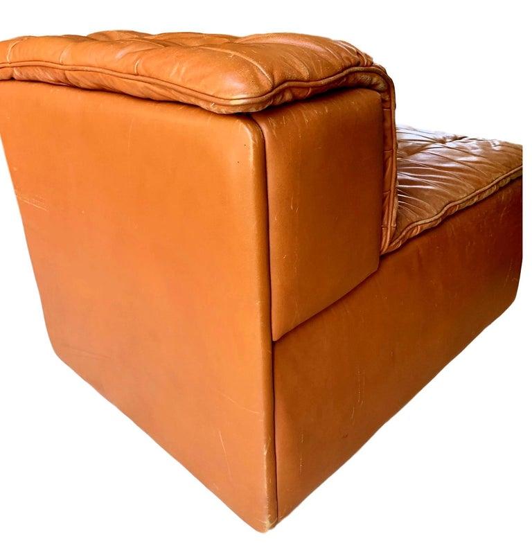 De Sede DS-11 Modular Six-Piece Leather Sofa For Sale 2