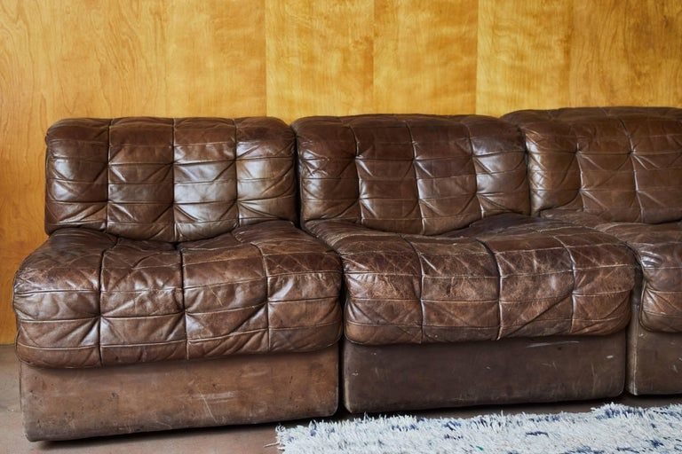 De Sede Ds 11 Modular Patchwork Leather Sectional Sofa At