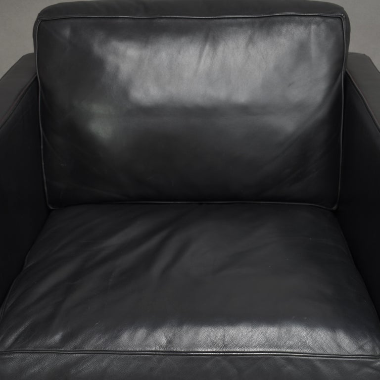 De Sede DS-118 Black Leather Lounge Armchairs, Switzerland For Sale 3