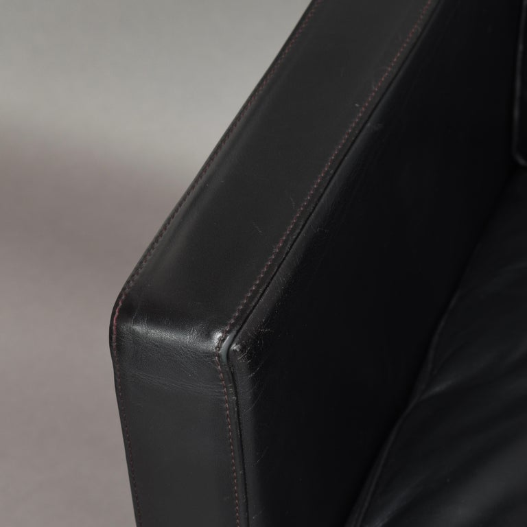 De Sede DS-118 Black Leather Lounge Armchairs, Switzerland For Sale 4