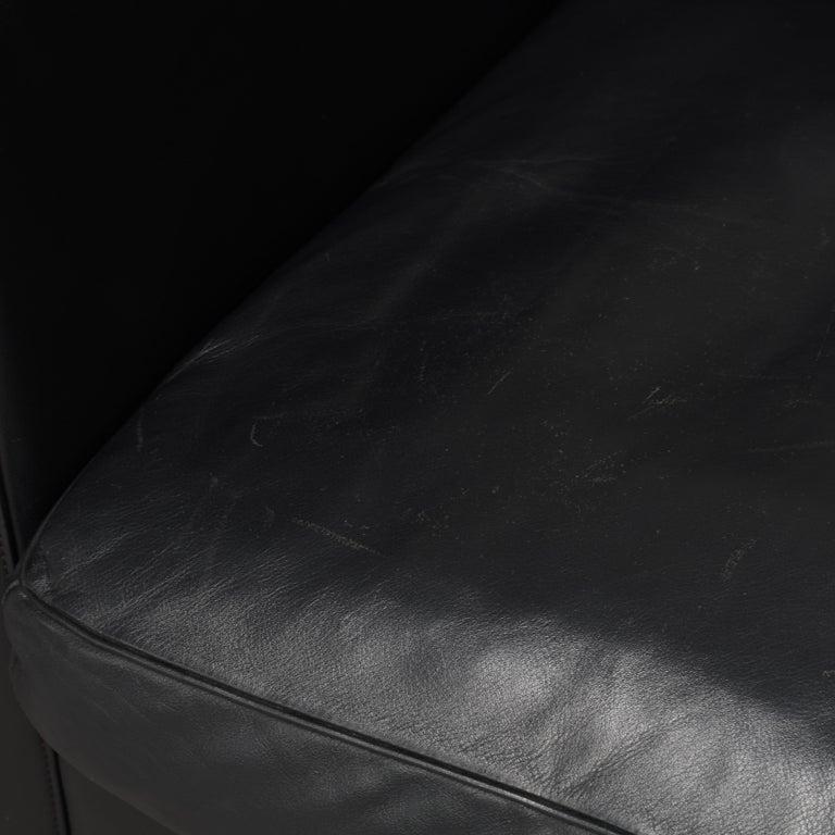 De Sede DS-118 Black Leather Lounge Armchairs, Switzerland For Sale 5