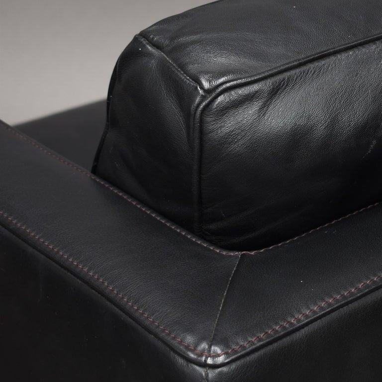 De Sede DS-118 Black Leather Lounge Armchairs, Switzerland For Sale 8