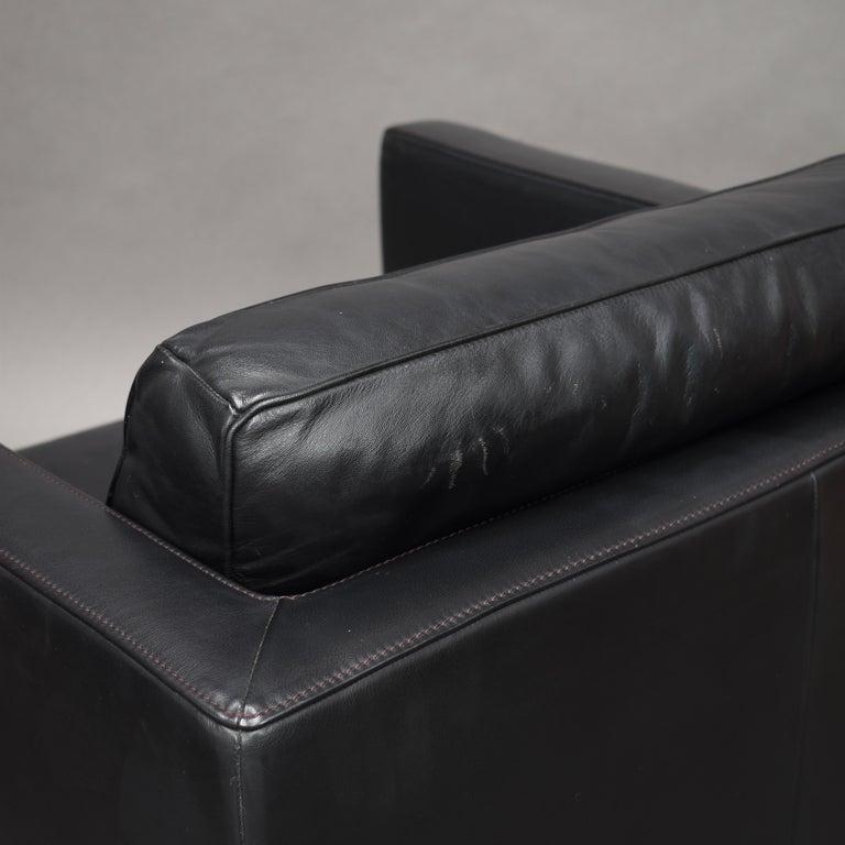 De Sede DS-118 Black Leather Lounge Armchairs, Switzerland For Sale 9