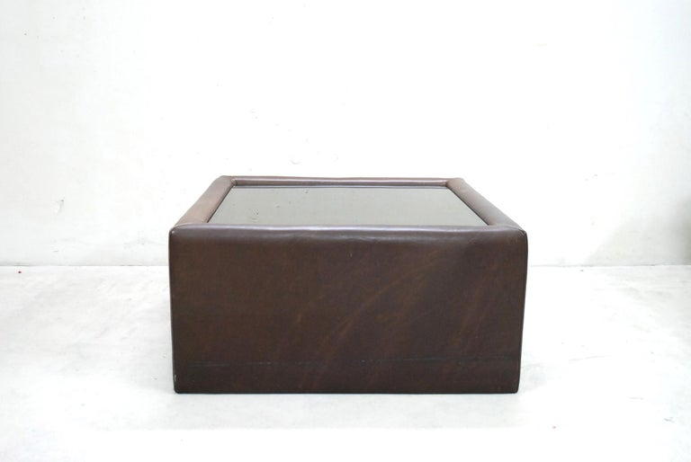 De Sede DS 12 Module Vintage Neck Leather Sofa Brown and Coffeetable 10