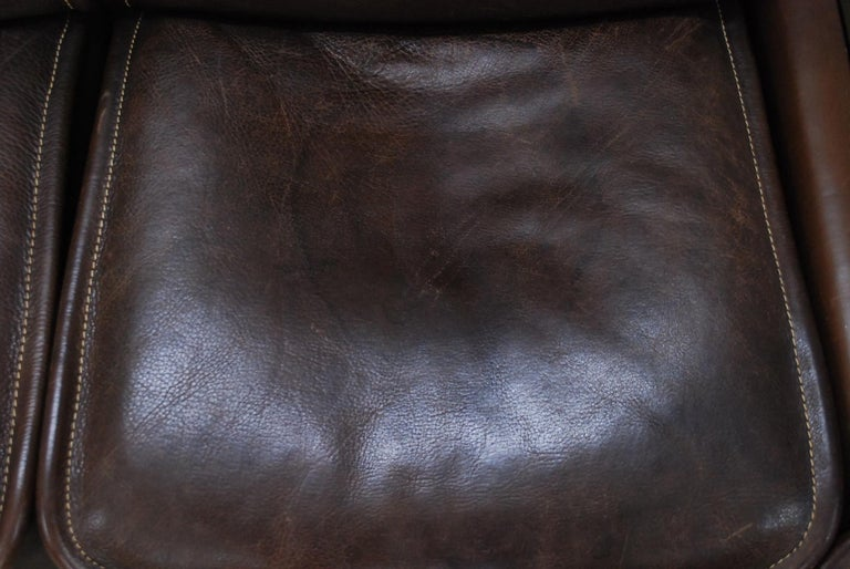 De Sede DS 12 Module Vintage Neck Leather Sofa Brown and Coffeetable 19