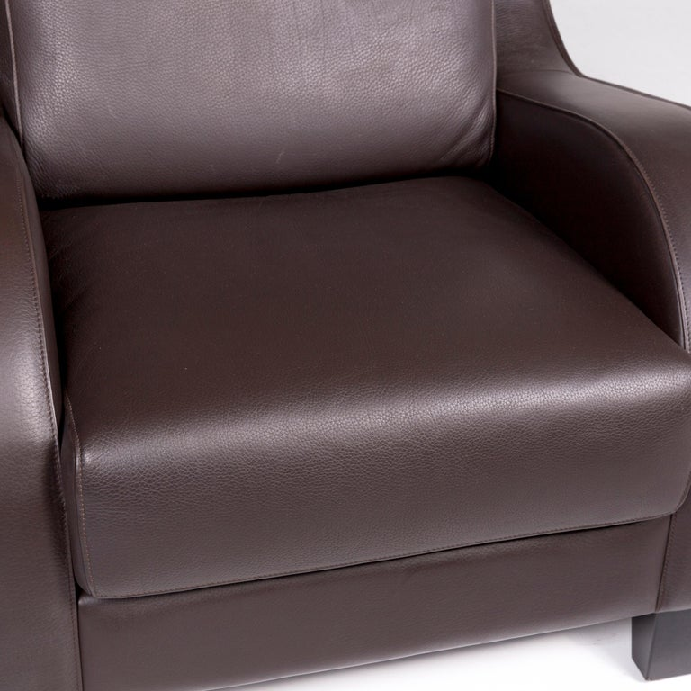 Modern De Sede DS 122-01 Leather Armchair Brown For Sale