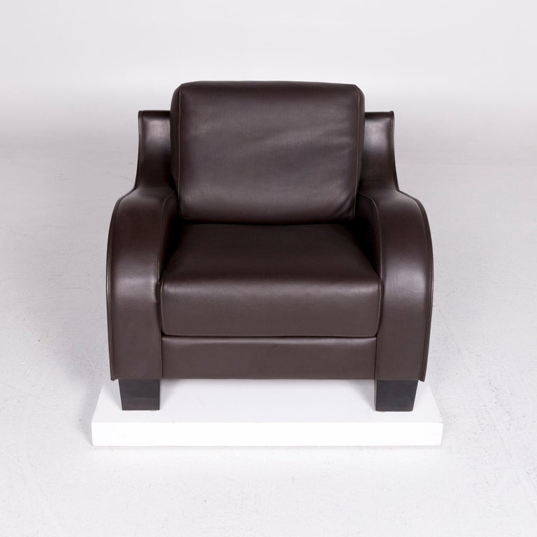 De Sede DS 122-01 Leather Armchair Brown In Good Condition For Sale In Cologne, DE