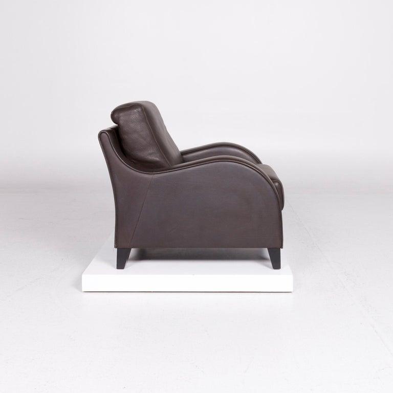 Contemporary De Sede DS 122-01 Leather Armchair Brown For Sale
