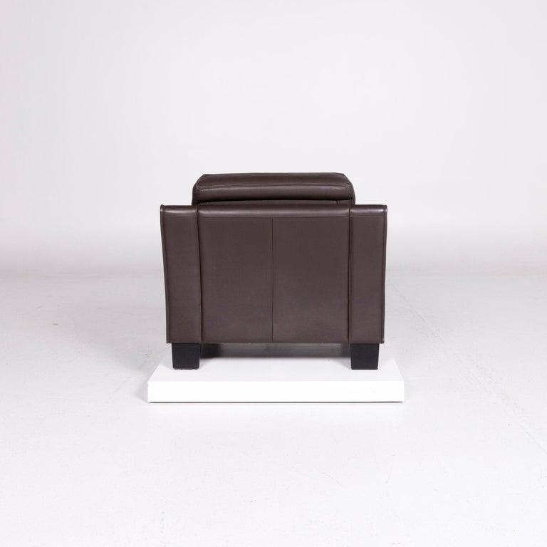 De Sede DS 122-01 Leather Armchair Brown For Sale 1