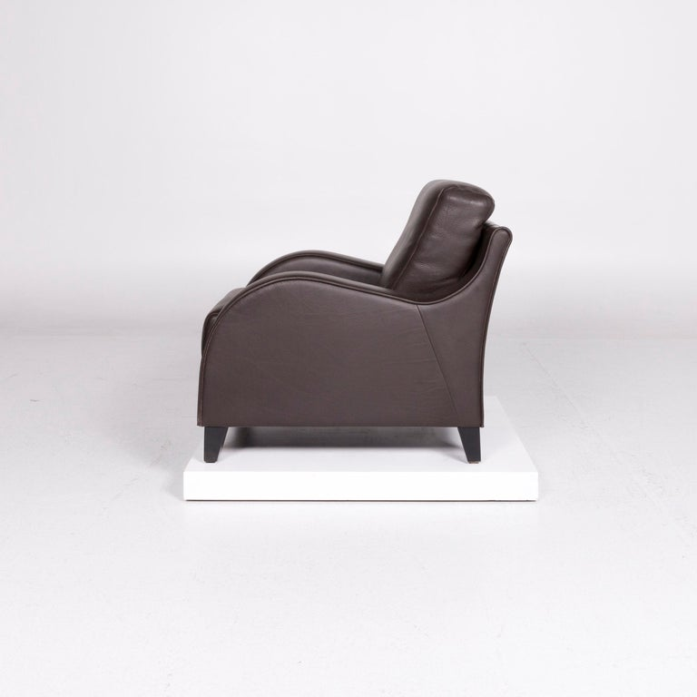 De Sede DS 122-01 Leather Armchair Brown For Sale 2