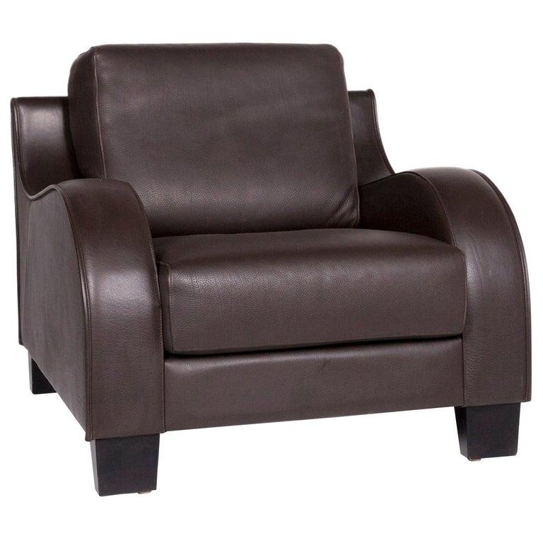 De Sede DS 122-01 Leather Armchair Brown For Sale
