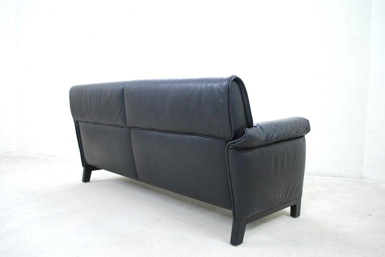 De Sede DS 14 Black Leather Sofa For Sale 4
