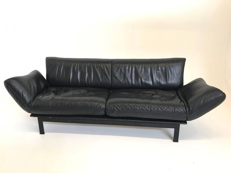 De Sede DS 140 Black Sofa Chaise Lounge For Sale at 1stdibs