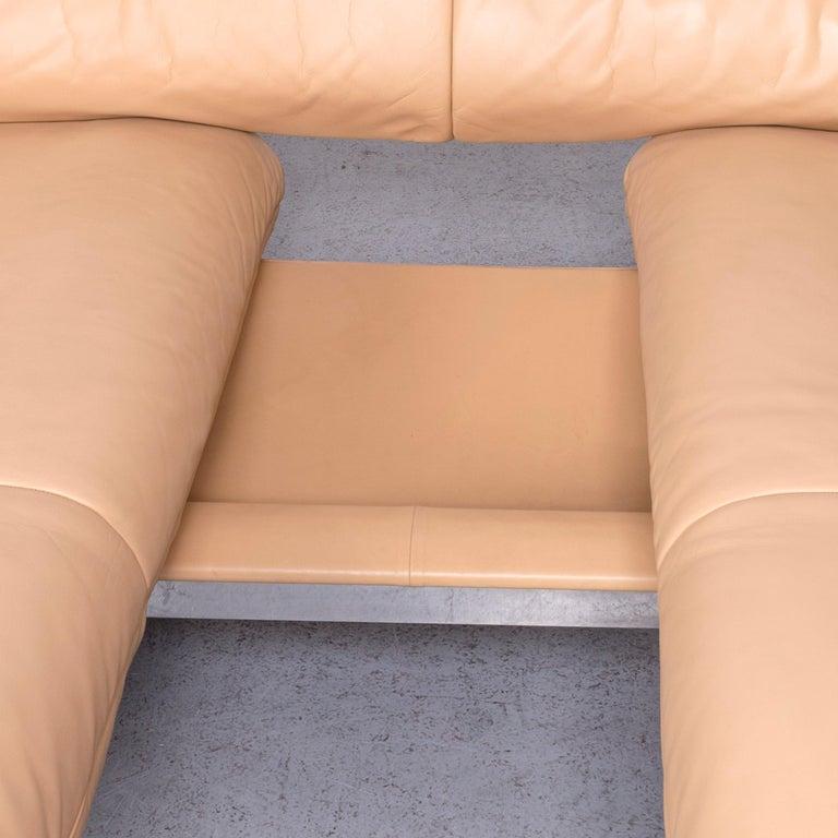 De Sede Ds 140 Designer Leather Sofa Beige Three-Seat Function Modern 5