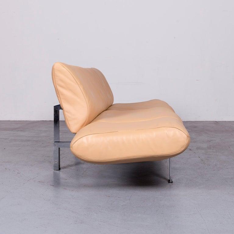 De Sede Ds 140 Designer Leather Sofa Beige Three-Seat Function Modern 6