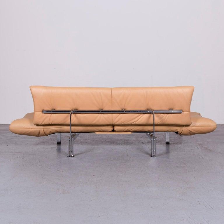 De Sede Ds 140 Designer Leather Sofa Beige Three-Seat Function Modern 7
