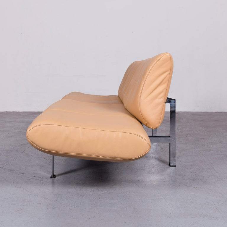 De Sede Ds 140 Designer Leather Sofa Beige Three-Seat Function Modern 8