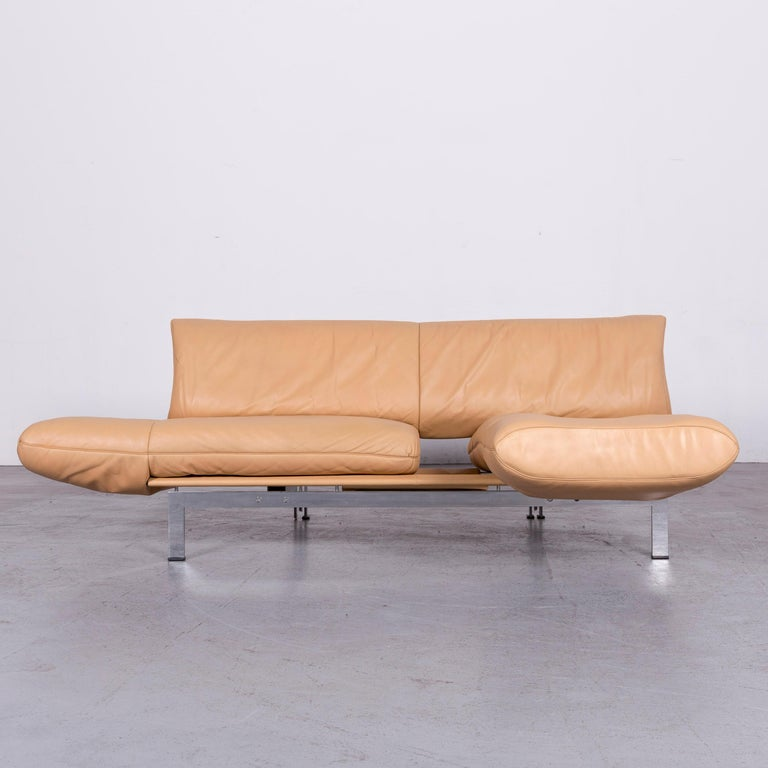 De Sede Ds 140 Designer Leather Sofa Beige Three-Seat Function Modern In Good Condition In Cologne, DE