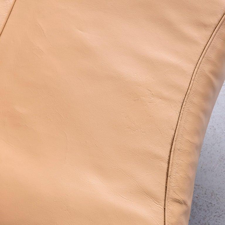 De Sede Ds 140 Designer Leather Sofa Beige Three-Seat Function Modern 3