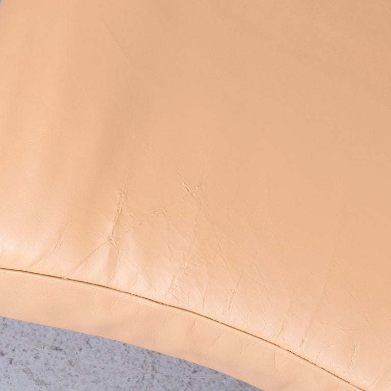 De Sede Ds 140 Designer Leather Sofa Beige Three-Seat Function Modern 4