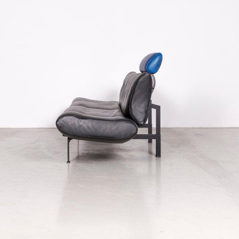 De Sede DS 140 Designer Leather Sofa Black Three-Seat Function Modern 7