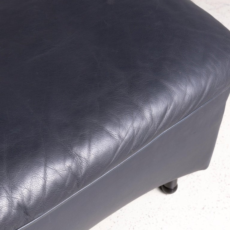 De Sede DS 140 Designer Leather Sofa Black Three-Seat Function Modern In Good Condition In Cologne, DE