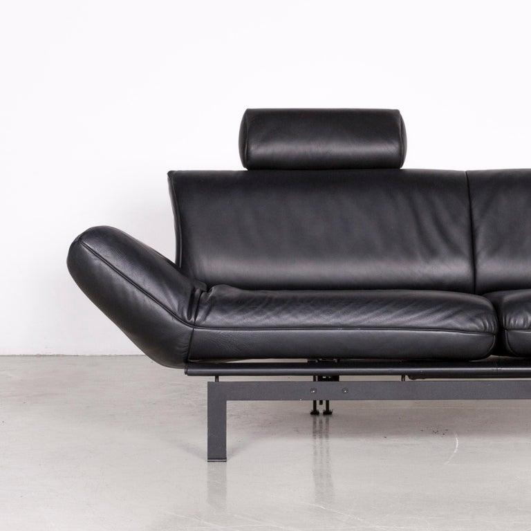 De Sede DS 140 Designer Leather Sofa Black Three-Seat Function Modern 1