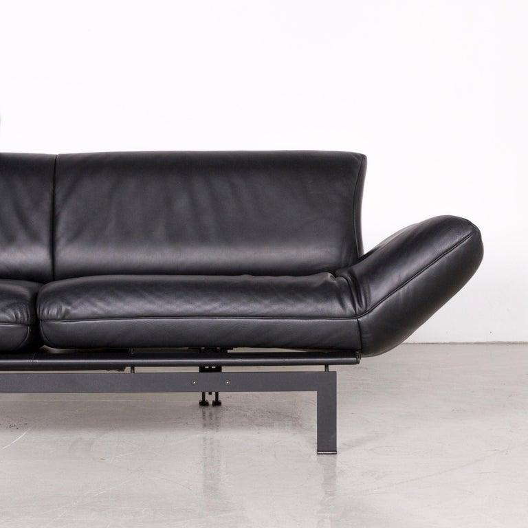 De Sede DS 140 Designer Leather Sofa Black Three-Seat Function Modern 2