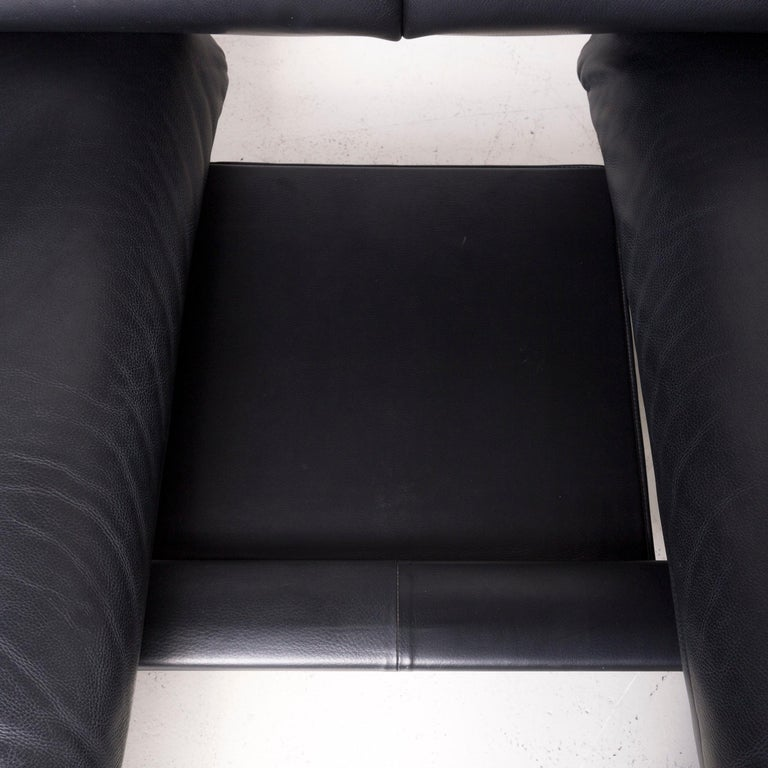 De Sede DS 140 Designer Leather Sofa Black Three-Seat Function Modern 4