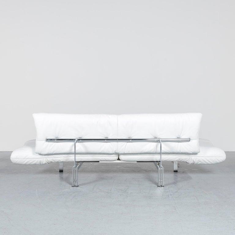 De Sede Ds 140 Designer Leather Sofa White Three-Seat Function Modern 8