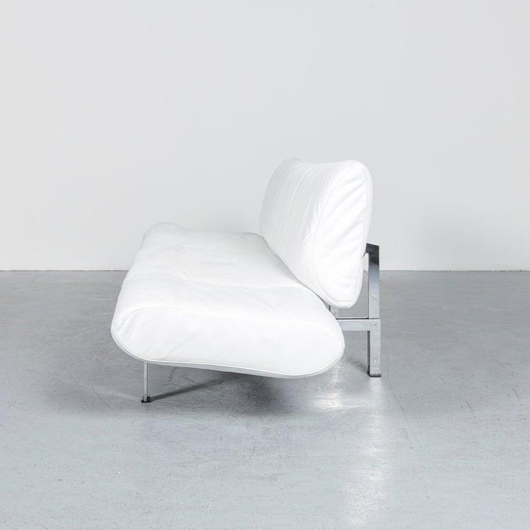 De Sede Ds 140 Designer Leather Sofa White Three-Seat Function Modern 9