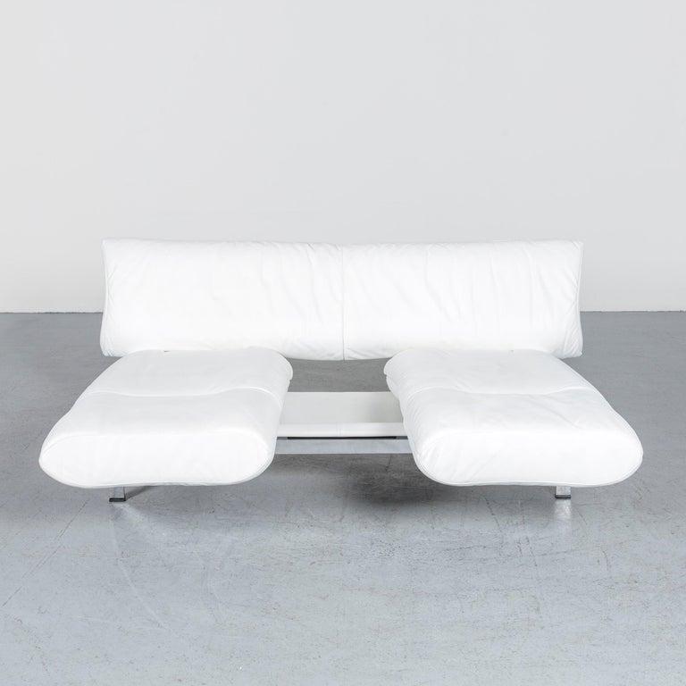 De Sede Ds 140 Designer Leather Sofa White Three-Seat Function Modern 10