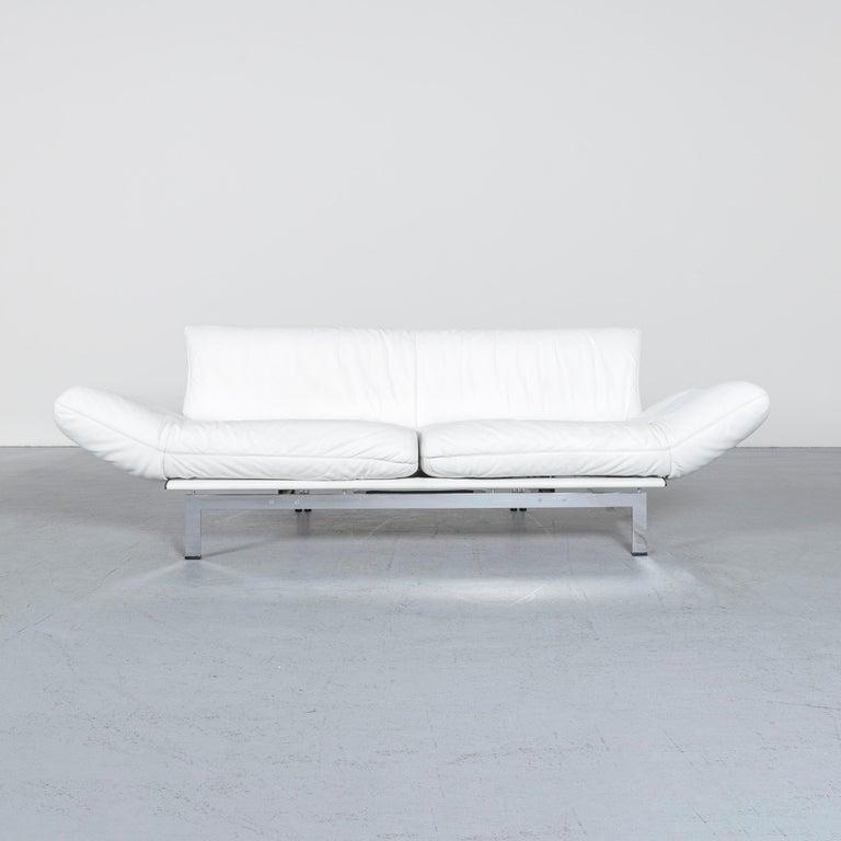 German De Sede Ds 140 Designer Leather Sofa White Three-Seat Function Modern