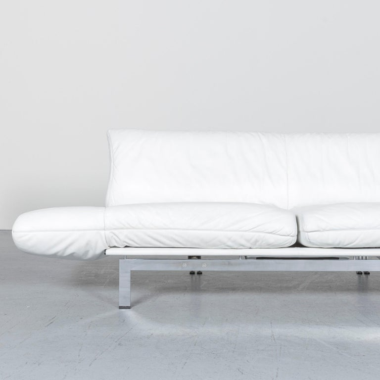 De Sede Ds 140 Designer Leather Sofa White Three-Seat Function Modern 1