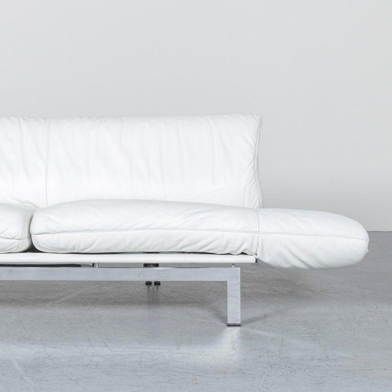 De Sede Ds 140 Designer Leather Sofa White Three-Seat Function Modern 2