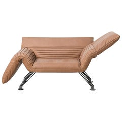 De Sede DS-142 Adjustable Chaise Longue in Leather Upholstery by Winfried Totzek