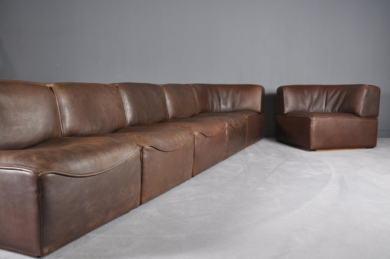 De Sede DS-15 in Dark Brown Buffalo Leather, 1970s For Sale 4
